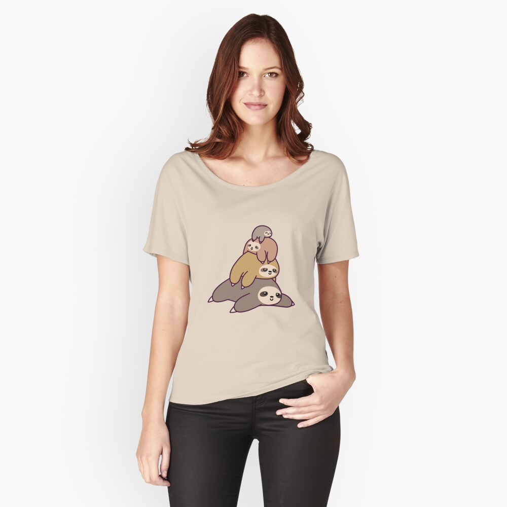 Sloth Stack Relaxed Fit T-Shirt