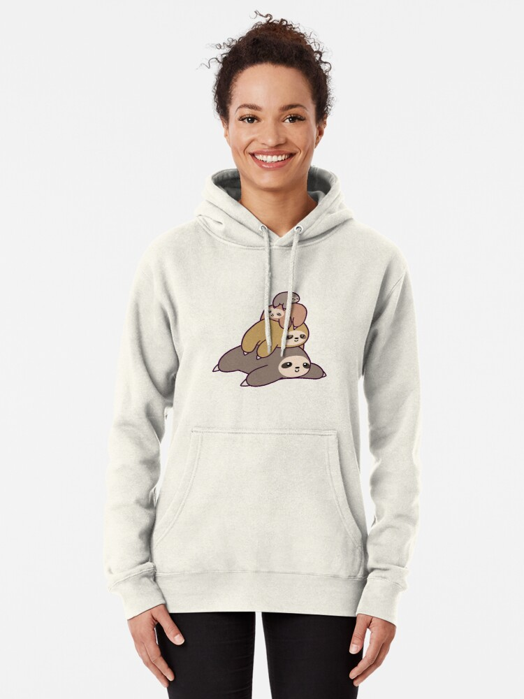 Alternate view of Sloth Stack Pullover Hoodie