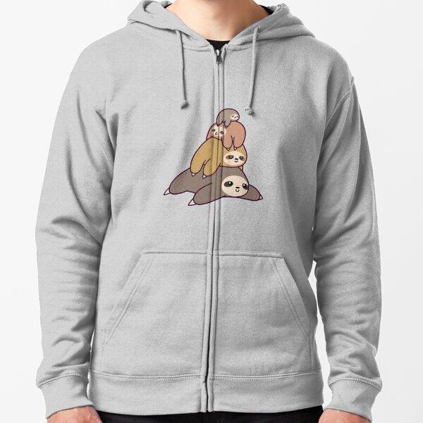 Sloth Stack Zipped Hoodie