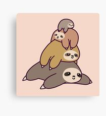 Sloth Stack Canvas Print