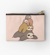 Sloth Stack Zipper Pouch