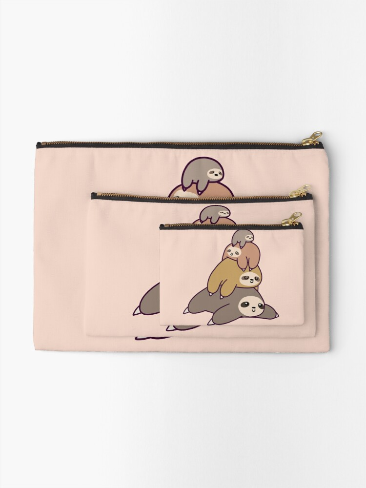 Alternate view of Sloth Stack Zipper Pouch