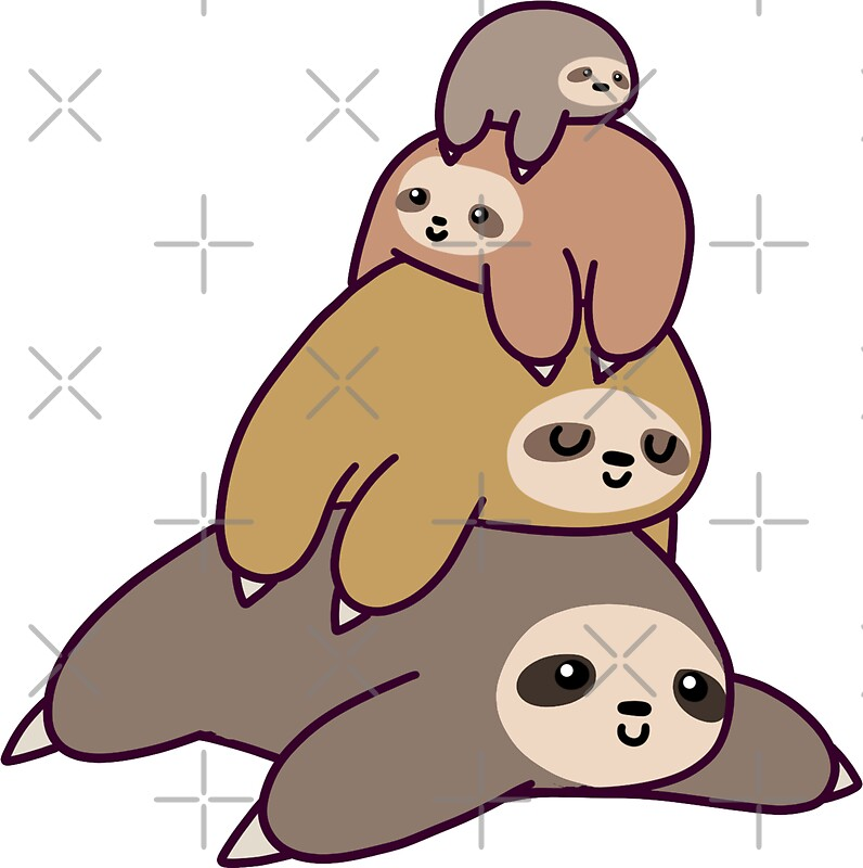 This is a photo of Agile Sloth Drawing Cute