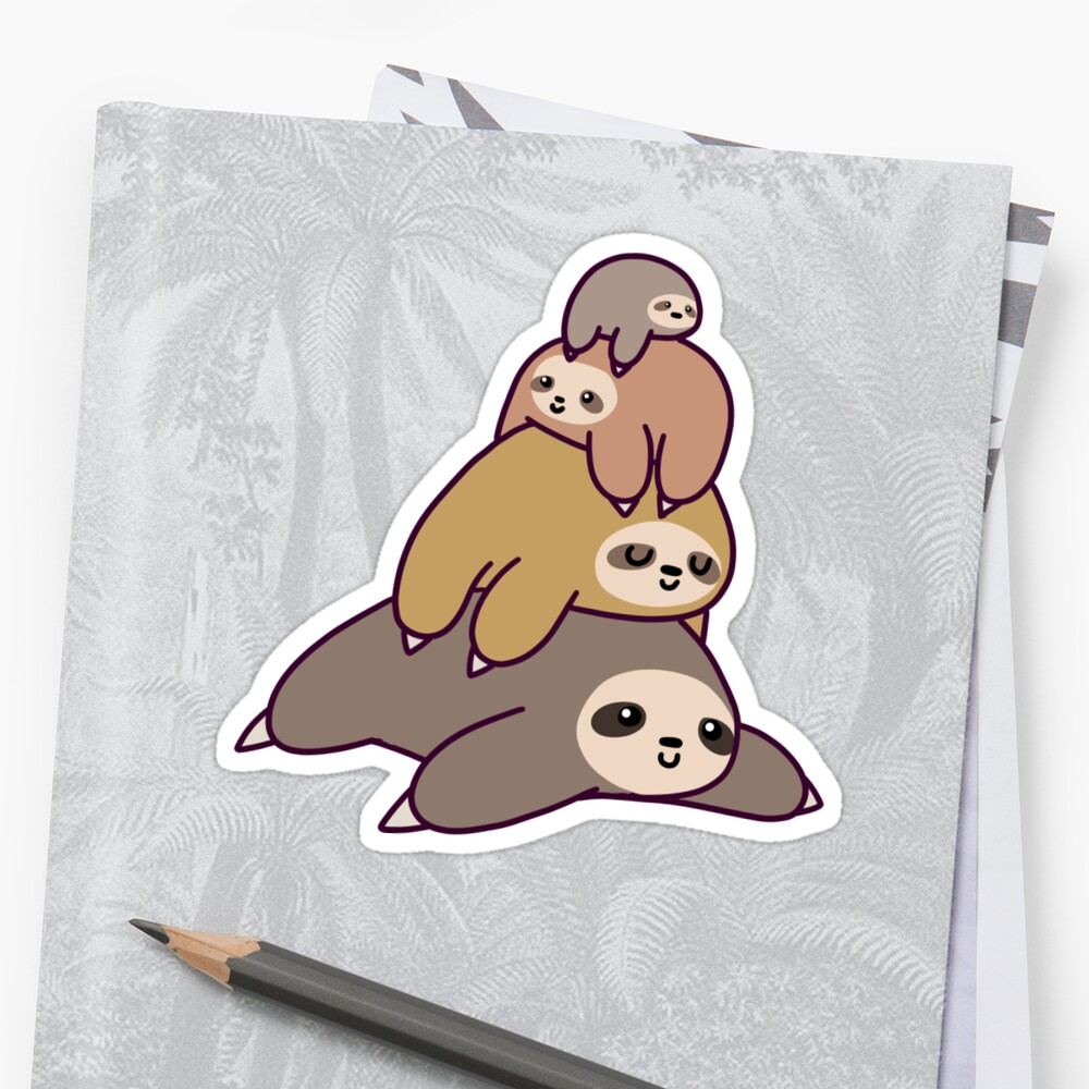 Sloth Stack Stickers