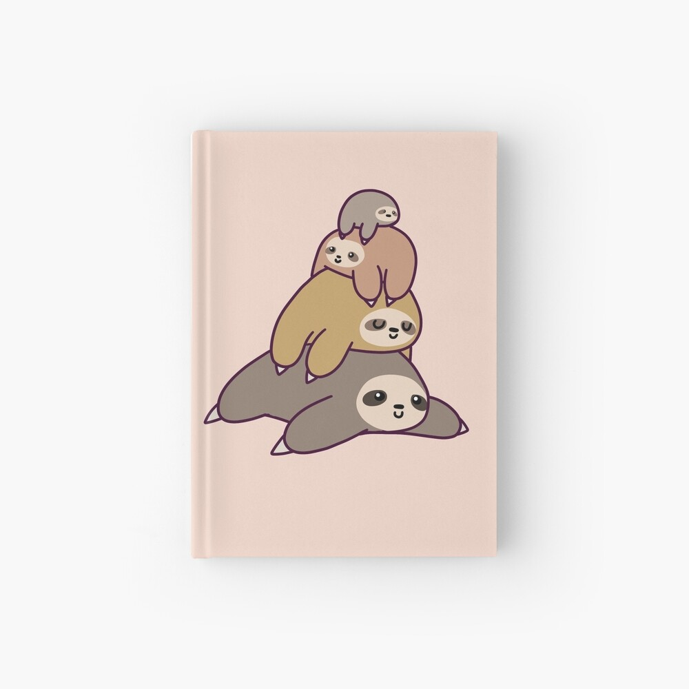 Sloth Stack Hardcover Journal