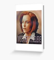 Agent Scully (w/ text) Greeting Card