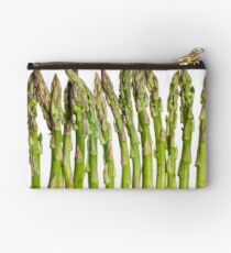 Asparagus Isolated On White Background Studio Pouch
