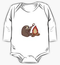 Campfire Sloth Long Sleeve Baby One-Piece