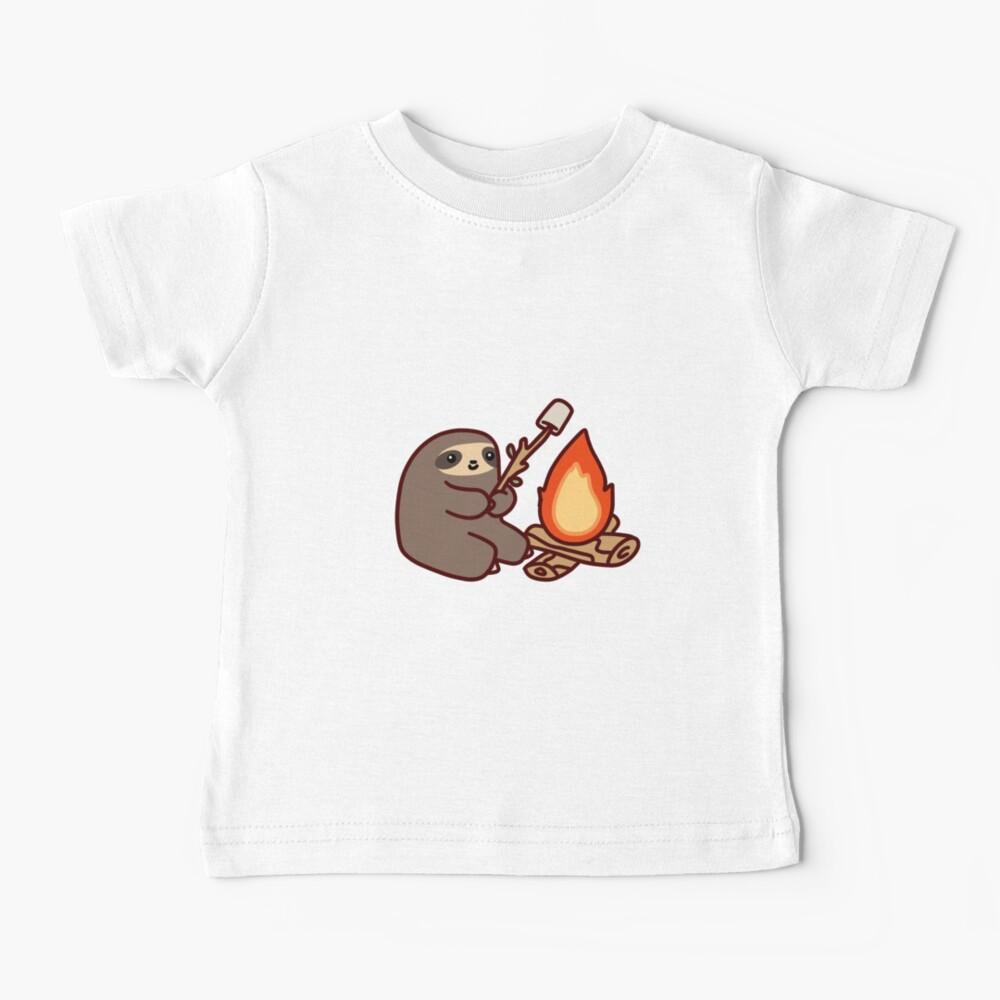 Campfire Sloth Baby T-Shirt