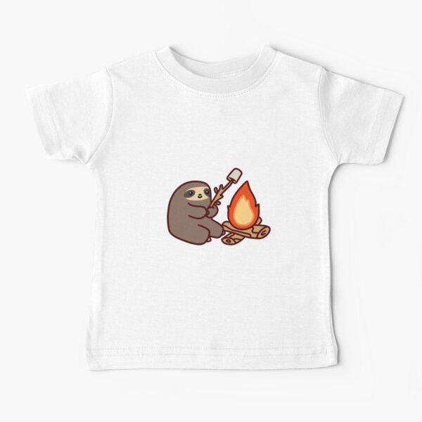 Paresseux feu de camp T-shirt bébé