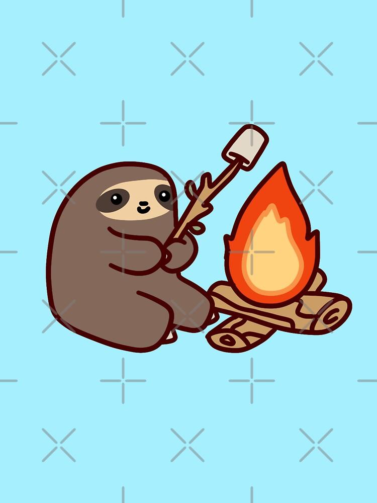 Campfire Sloth by SaradaBoru