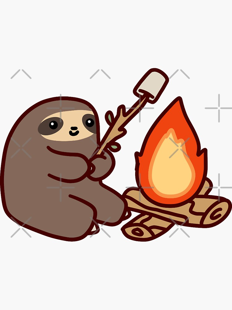 Campfire Sloth by SaradaBoru