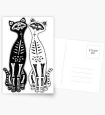 Opposites Attract Kitten Bones Postcards