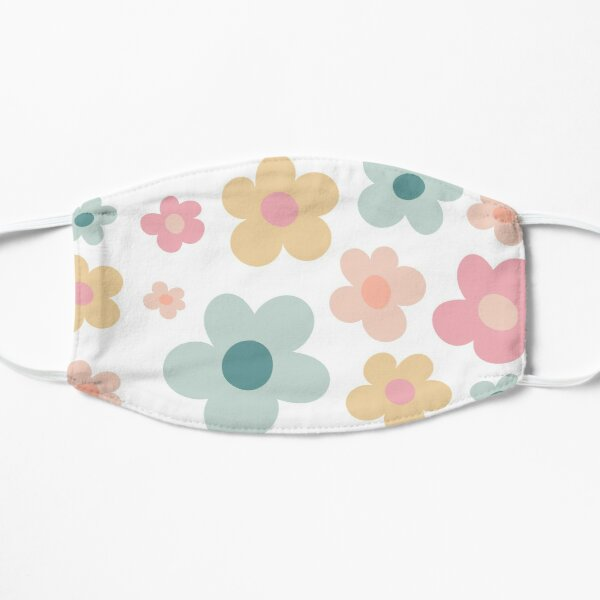 Flower Pattern Muted Pastel: Golf le Fleur Inspired Flat Mask