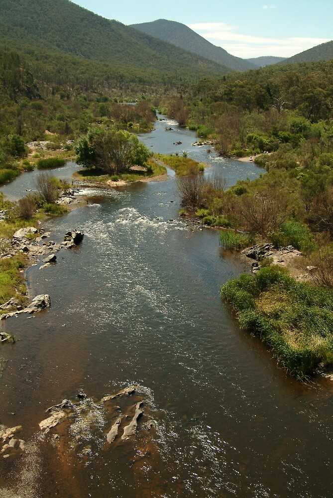 Joe Mortelliti Gallery - Snowy River from McKillop's Bridge, alpine Victoria, Australia. by thisisaustralia