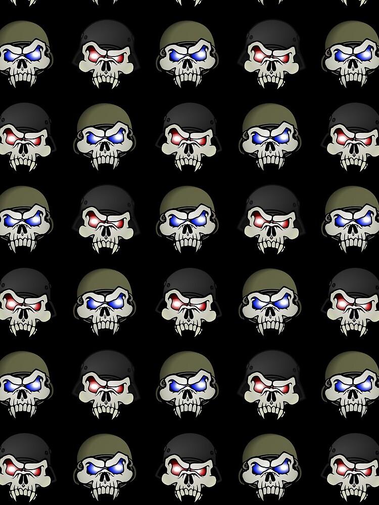 MONSTERGEDDON 42 Skull x 4 by MONSTERGEDDON42