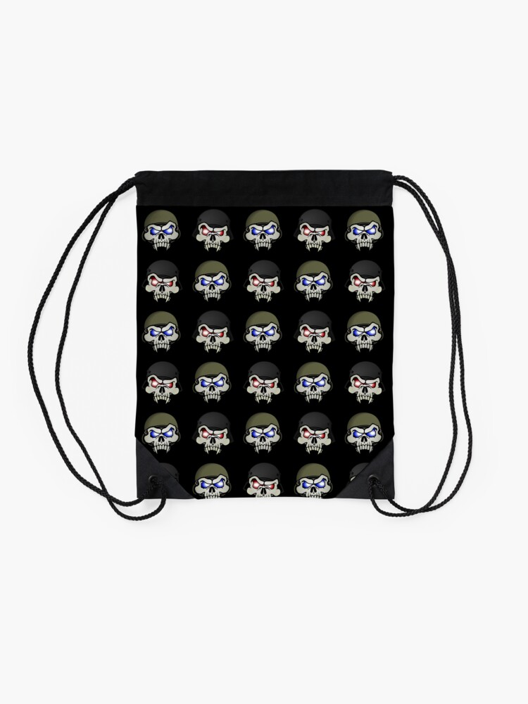 Alternate view of MONSTERGEDDON 42 Skull x 4 Drawstring Bag