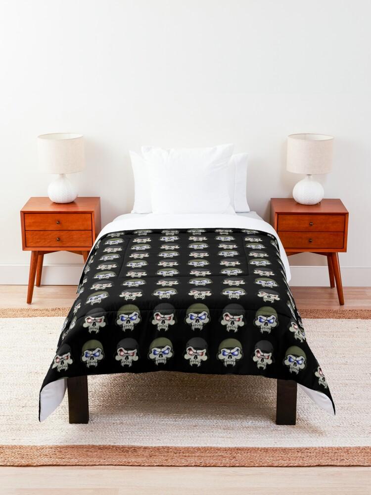 Alternate view of MONSTERGEDDON 42 Skull x 4 Comforter