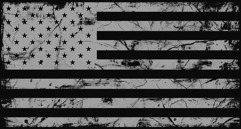 Quot American Flag Distressed Gray Quot By Zingarostudios