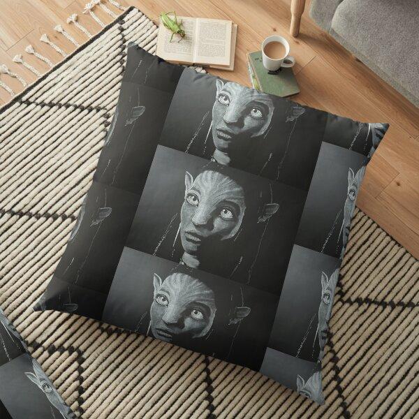 Avatar Neytiri Chalk Drawing 2020 Floor Pillow