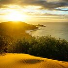 Golden sunset view from Cape Moreton  by Keiran Lusk