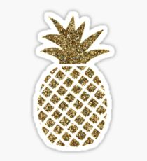 gold glitter pineapple Sticker