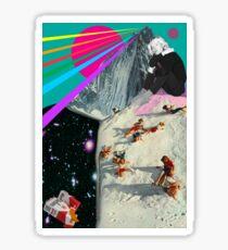 Connan Mockasin collage Sticker
