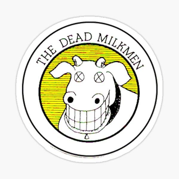 The Dead Milkmen smiling dead cow funny Sticker