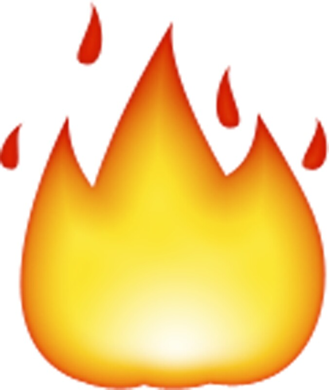 Quot Fire Emoji Quot Stickers By Princessemoji Redbubble