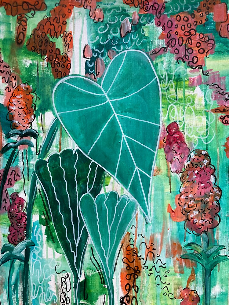 Heart Leaf Philodendron by HMWylandCreates