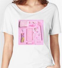 Pink Babygirl Essentials Women's Relaxed Fit T-Shirt