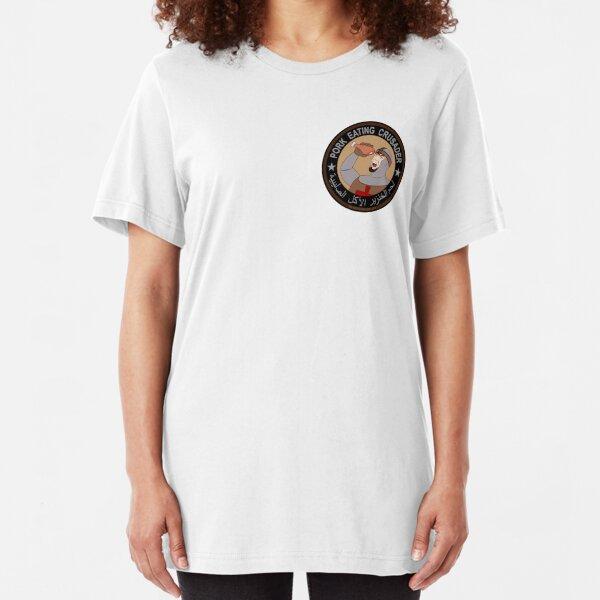 Pork Eating Crusader Slim Fit T-Shirt
