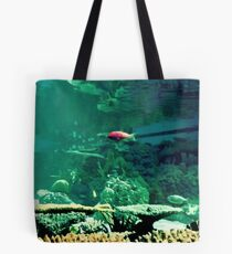 Little Fish in a Big Blue World Tote Bag