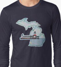 Michigan Pride Lighthouse Long Sleeve T-Shirt