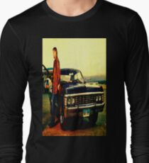 supernatural tv dean baby impala fan art Long Sleeve T-Shirt
