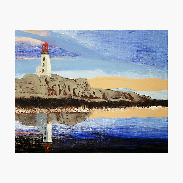 Lighthouse Reflection On The Water Photographic Print