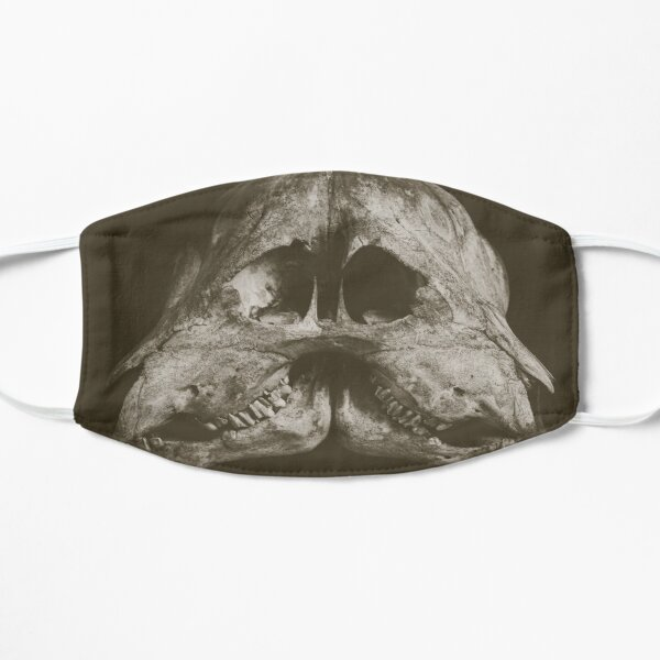 Twin Goat Skull Flat Mask