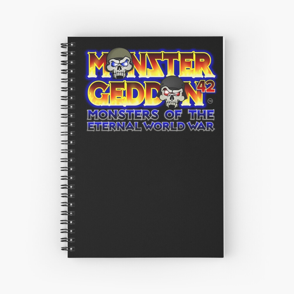 MONSTERGEDDON 42 Logo Block Spiral Notebook
