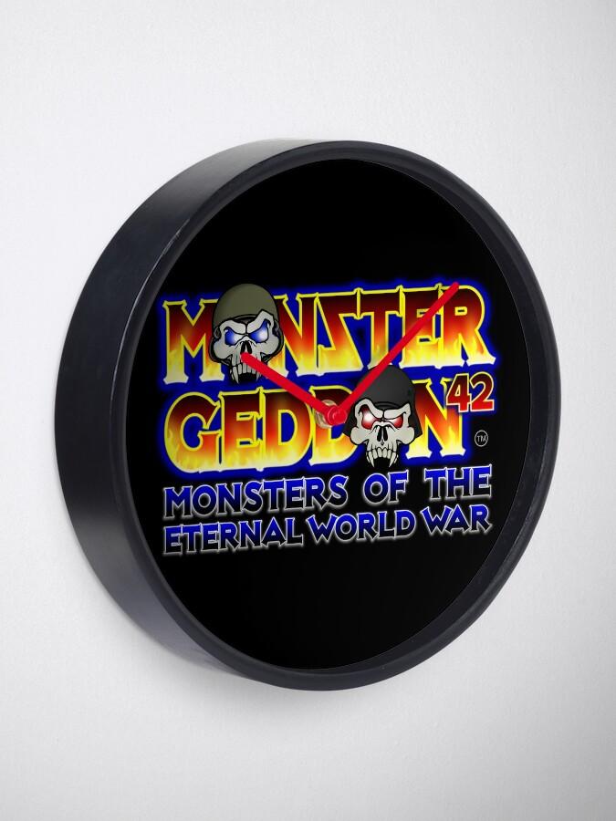 Alternate view of MONSTERGEDDON 42 Logo Block Clock