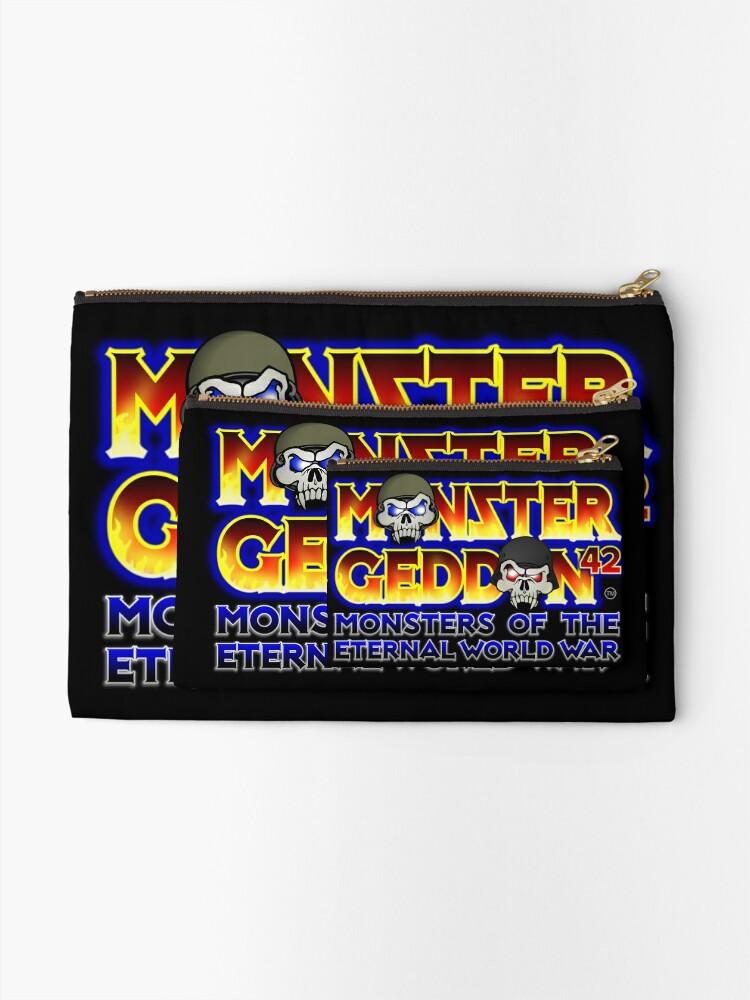Alternate view of MONSTERGEDDON 42 Logo Block Zipper Pouch