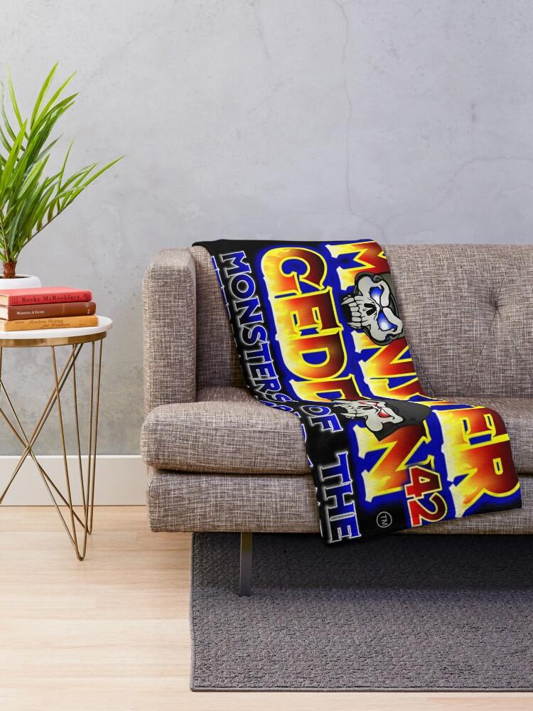 Alternate view of MONSTERGEDDON 42 Logo Block Throw Blanket