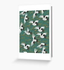 Japanese Crane Pattern Greeting Card