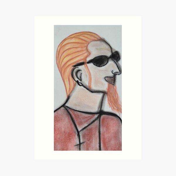 Blonde Layne pastel profile Them bones Art Print