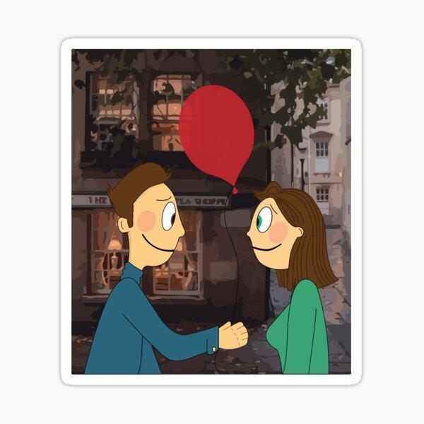 beautiful love story Lana and Lou Sticker