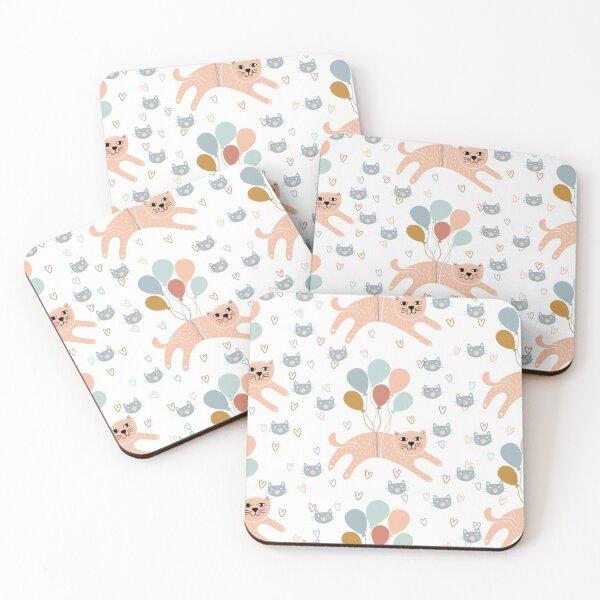 Cut Cat Paloon Coasters (Set of 4)