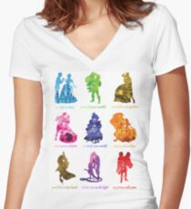 Everyone's a Princess  Women's Fitted V-Neck T-Shirt