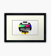 90's TV Test pattern Framed Print