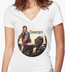 Clever Girl! Women's Fitted V-Neck T-Shirt