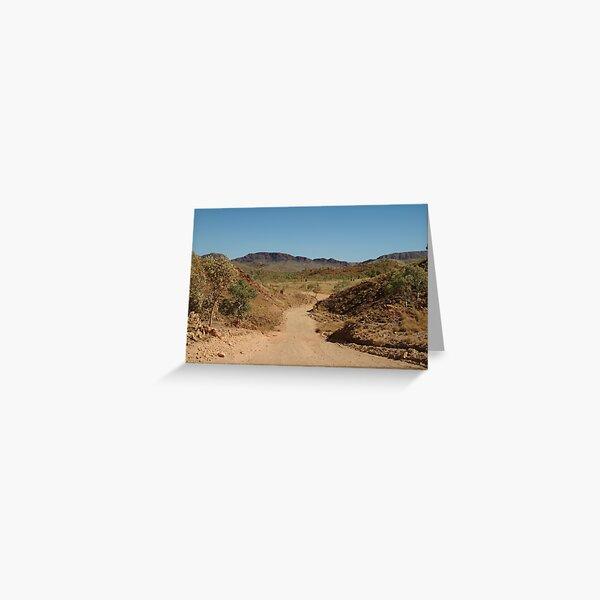 Joe Mortelliti Gallery - Mabel Downs Station track, Northern Territory Greeting Card