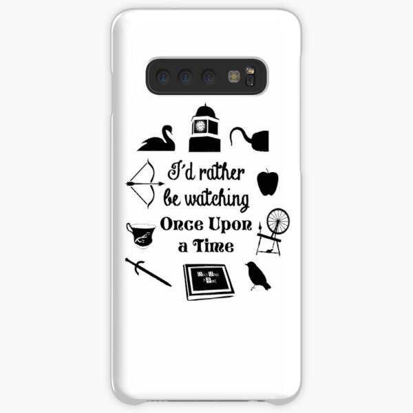 """I'd Rather Be Watching Once Upon a Time"" Icon Design in Black Samsung Galaxy Snap Case"